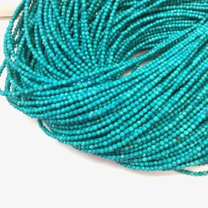 Shop Turquoise Faceted Beads! Turquoise Micro Faceted Beads 2mm 3mm Tiny Chinese Turquoise Beads Small Bright Green Blue Gemstone Spacers December Birthstone Supplies | Natural genuine faceted Turquoise beads for beading and jewelry making.  #jewelry #beads #beadedjewelry #diyjewelry #jewelrymaking #beadstore #beading #affiliate #ad