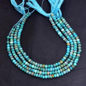 Shop Turquoise Rondelle Beads! Turquoise Gemstone 4mm-5mm Rondelle Beads | 8inch Strand | Natural Arizona Turquoise Semi Precious Gemstone Smooth Beads for Jewelry Making | Natural genuine rondelle Turquoise beads for beading and jewelry making.  #jewelry #beads #beadedjewelry #diyjewelry #jewelrymaking #beadstore #beading #affiliate #ad