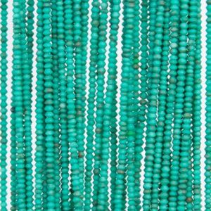 Shop Turquoise Rondelle Beads! Natural Peacock Green Turquoise Loose Beads Rondelle Shape 1x1mm | Natural genuine rondelle Turquoise beads for beading and jewelry making.  #jewelry #beads #beadedjewelry #diyjewelry #jewelrymaking #beadstore #beading #affiliate #ad