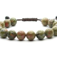 Adjustable Unakite Bracelet, 10 Mm Bead Unakite Bracelet, Crystals Unakite Bracelet, Minerals Unakite Bracelet, Gemstones Unakite Bracelet | Natural genuine Gemstone jewelry. Buy crystal jewelry, handmade handcrafted artisan jewelry for women.  Unique handmade gift ideas. #jewelry #beadedjewelry #beadedjewelry #gift #shopping #handmadejewelry #fashion #style #product #jewelry #affiliate #ad