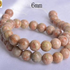 15 Inch Strand Of Chinese Unakite Smooth Round Beads 6mm 8mm 10mm 12mm 14mm For Choice | Natural genuine round Gemstone beads for beading and jewelry making.  #jewelry #beads #beadedjewelry #diyjewelry #jewelrymaking #beadstore #beading #affiliate #ad