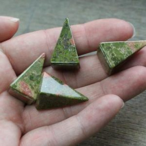 Unakite Small Tall Pyramid #M118 | Natural genuine stones & crystals in various shapes & sizes. Buy raw cut, tumbled, or polished gemstones for making jewelry or crystal healing energy vibration raising reiki stones. #crystals #gemstones #crystalhealing #crystalsandgemstones #energyhealing #affiliate #ad