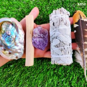Shop Crystal Healing! White Sage Smudge Kit Mini w/ Detailed Instructions, Abalone Shell (add Palo Santo, Feather, Healing Crystals) Sage Smudge Cleansing Kit | Shop jewelry making and beading supplies, tools & findings for DIY jewelry making and crafts. #jewelrymaking #diyjewelry #jewelrycrafts #jewelrysupplies #beading #affiliate #ad