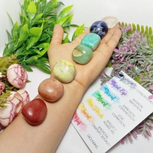 Shop Chakra Stone Sets! XL JUMBO Set, Chakra Set, Chakra Crystal Set, Chakra Stone Set, 7 Chakra Stones Set, Chakra Stones, Mandala Stones, 7 Chakra Crystal Stones | Shop jewelry making and beading supplies, tools & findings for DIY jewelry making and crafts. #jewelrymaking #diyjewelry #jewelrycrafts #jewelrysupplies #beading #affiliate #ad