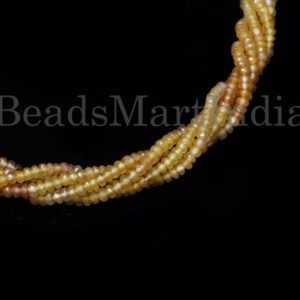Shop Yellow Sapphire Beads! Yellow Sapphire Faceted Rondelle Beads, Yellow Sapphire Beads, Yellow Sapphire Rondelle,Yellow Sapphire Faceted Beads,  Rondelle Beads | Natural genuine faceted Yellow Sapphire beads for beading and jewelry making.  #jewelry #beads #beadedjewelry #diyjewelry #jewelrymaking #beadstore #beading #affiliate #ad