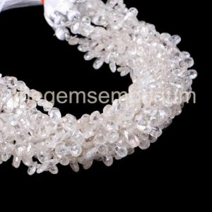 Shop Zircon Beads! White Zircon Faceted Pear Shape Gemstone Beads, Faceted White Zircon Beads, White Zircon Pear Shape Beads, White Zircon Beads | Natural genuine faceted Zircon beads for beading and jewelry making.  #jewelry #beads #beadedjewelry #diyjewelry #jewelrymaking #beadstore #beading #affiliate #ad