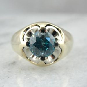 Shop Zircon Rings! Large Blue Zircon Gemstone, Fine Gold Men's Retro Era Ring, Ladies Cocktail Ring E5VDND-D   Natural genuine Zircon rings, simple unique handcrafted gemstone rings. #rings #jewelry #shopping #gift #handmade #fashion #style #affiliate #ad