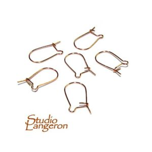 Shop Ear Wires & Posts for Making Earrings! 14K Rose Gold Filled Kidney Small Ear Wire, Earrings gold filled, Kidney Ear Wire, Jewelry making, Earring components – 1 pair (2 pieces) | Shop jewelry making and beading supplies, tools & findings for DIY jewelry making and crafts. #jewelrymaking #diyjewelry #jewelrycrafts #jewelrysupplies #beading #affiliate #ad