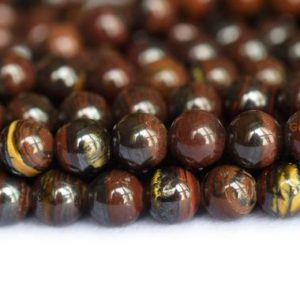 "15.5"" 6mm Natural Iron red tiger eye round beads, high quality natural red semi-precious stone SGDO 