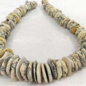 18inch–12-20/15-25mm Natural Magnesite Turquoise gemstone,blue/white/brown/black Raw heishi  gemstone Spacer beads   Natural genuine other-shape Gemstone beads for beading and jewelry making.  #jewelry #beads #beadedjewelry #diyjewelry #jewelrymaking #beadstore #beading #affiliate #ad