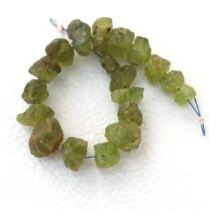 Shop Peridot Chip & Nugget Beads! 18 Pieces Natural Peridot gemstone raw, drilled natural gemstone, rough stone jewelry, AAA quality natural peridot raw size 6 to 11 mm | Natural genuine chip Peridot beads for beading and jewelry making.  #jewelry #beads #beadedjewelry #diyjewelry #jewelrymaking #beadstore #beading #affiliate #ad