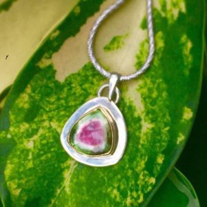 Shop Watermelon Tourmaline Pendants! 18k Gold Watermelon Tourmaline Pendant | Natural genuine Watermelon Tourmaline pendants. Buy crystal jewelry, handmade handcrafted artisan jewelry for women.  Unique handmade gift ideas. #jewelry #beadedpendants #beadedjewelry #gift #shopping #handmadejewelry #fashion #style #product #pendants #affiliate #ad