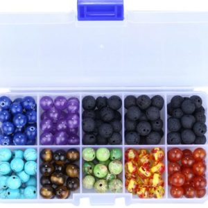 Shop Chakra Beads! 200 Pcs 8mm Volcanic Stone Loose Beads Set Colorful Chakra Beads Boxed Combination, Diy Jewelry Beaded Accessories | Shop jewelry making and beading supplies, tools & findings for DIY jewelry making and crafts. #jewelrymaking #diyjewelry #jewelrycrafts #jewelrysupplies #beading #affiliate #ad