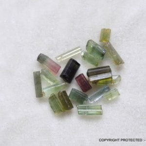 Shop Raw & Rough Tourmaline Stones! 20pc WATERMELON TOURMALINE tube shape green pink shade tourmaline raw rough gemstone raw rough wire jeweler tourmaline long tube fancy shape | Natural genuine stones & crystals in various shapes & sizes. Buy raw cut, tumbled, or polished gemstones for making jewelry or crystal healing energy vibration raising reiki stones. #crystals #gemstones #crystalhealing #crystalsandgemstones #energyhealing #affiliate #ad