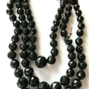 Shop Jet Necklaces! 223g Stunning Victorian WHITBY JET necklace faceted beads ~ project  inA56jet   Natural genuine Jet necklaces. Buy crystal jewelry, handmade handcrafted artisan jewelry for women.  Unique handmade gift ideas. #jewelry #beadednecklaces #beadedjewelry #gift #shopping #handmadejewelry #fashion #style #product #necklaces #affiliate #ad