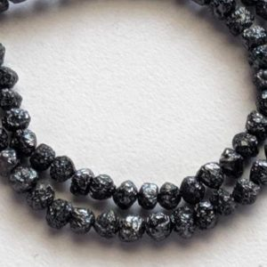 Shop Diamond Necklaces! 4-5mm Raw Black Diamond Beads, Rough Black Diamond Beads, Uncut Diamond, Raw Black Diamond Necklace (4IN To 16IN Options) – PPD453 | Natural genuine Diamond necklaces. Buy crystal jewelry, handmade handcrafted artisan jewelry for women.  Unique handmade gift ideas. #jewelry #beadednecklaces #beadedjewelry #gift #shopping #handmadejewelry #fashion #style #product #necklaces #affiliate #ad