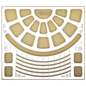 Shop Jewelry Making Tools! 40002, Bracelet Design Beading Board by Acclaim Crafts. Need more pockets? See our 40008, Bead Stringers Pocket Board! | Shop jewelry making and beading supplies, tools & findings for DIY jewelry making and crafts. #jewelrymaking #diyjewelry #jewelrycrafts #jewelrysupplies #beading #affiliate #ad