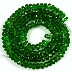 4mm To 6mm Chrome Diopside Rondelle Beads Faceted, Natural Green Chrome Diopside Beads Faceted (8 Inch – 16 Inch Strand) Aaa Beads Gemstone | Natural genuine beads Diopside beads for beading and jewelry making.  #jewelry #beads #beadedjewelry #diyjewelry #jewelrymaking #beadstore #beading #affiliate #ad