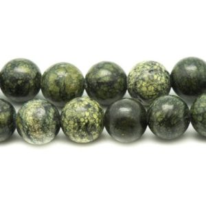 Shop Serpentine Round Beads! 4pc – beads of stone – Serpentine balls 12mm 4558550007810 | Natural genuine round Serpentine beads for beading and jewelry making.  #jewelry #beads #beadedjewelry #diyjewelry #jewelrymaking #beadstore #beading #affiliate #ad
