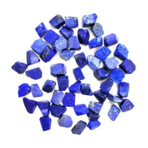 Shop Raw & Rough Lapis Lazuli Stones! 50 Pieces Natural Lapis Lazuli Rough,Size 6-8 Raw Lapis Lazuli,Loose Gemstone,Undrilled High Quality Rough,Making Jewelry Wholesale Price | Natural genuine stones & crystals in various shapes & sizes. Buy raw cut, tumbled, or polished gemstones for making jewelry or crystal healing energy vibration raising reiki stones. #crystals #gemstones #crystalhealing #crystalsandgemstones #energyhealing #affiliate #ad