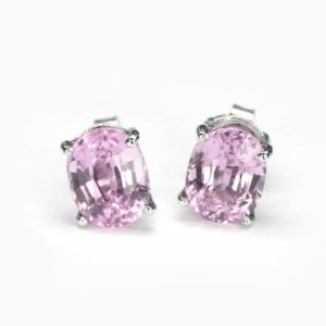 6.1 ct Natural pink kunzite earring sterling silver. | Natural genuine Kunzite earrings. Buy crystal jewelry, handmade handcrafted artisan jewelry for women.  Unique handmade gift ideas. #jewelry #beadedearrings #beadedjewelry #gift #shopping #handmadejewelry #fashion #style #product #earrings #affiliate #ad