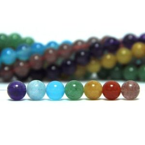 Shop Chakra Beads! 7 Chakra Beads Set 8mm Chakra Stone Set 7 Chakra Gemstone Beads Chakra Mala Beads Gemstones For Chakra Jewelry Healing Yoga Meditation Bead | Shop jewelry making and beading supplies, tools & findings for DIY jewelry making and crafts. #jewelrymaking #diyjewelry #jewelrycrafts #jewelrysupplies #beading #affiliate #ad