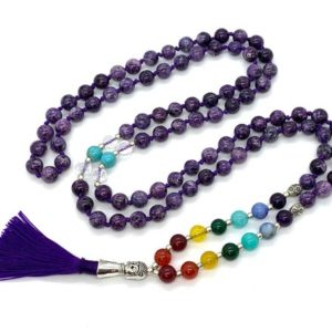 Shop Chakra Bracelets! 7 chakra stones bracelet, men's chakra bracelet, 7 chakra stone jewelry, chakra stone crystal jewelry  7 chakra mala beads necklace meaning | Shop jewelry making and beading supplies, tools & findings for DIY jewelry making and crafts. #jewelrymaking #diyjewelry #jewelrycrafts #jewelrysupplies #beading #affiliate #ad