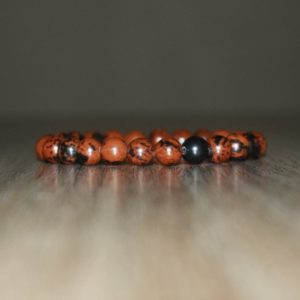 Shop Mahogany Obsidian Jewelry! 8mm Mahogany Obsidian Bracelet for Women and Men, Natural Mahogany Obsidian Bracelet, Healing Bracelet, Both Women Bracelet and Men Bracelet | Natural genuine Mahogany Obsidian jewelry. Buy crystal jewelry, handmade handcrafted artisan jewelry for women.  Unique handmade gift ideas. #jewelry #beadedjewelry #beadedjewelry #gift #shopping #handmadejewelry #fashion #style #product #jewelry #affiliate #ad