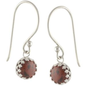 Shop Mahogany Obsidian Earrings! 925 Sterling Silver Natural 8mm Cabochon Mahogany Obsidian Gemstones Crown Bezel Set Hook Earrings | Natural genuine Mahogany Obsidian earrings. Buy crystal jewelry, handmade handcrafted artisan jewelry for women.  Unique handmade gift ideas. #jewelry #beadedearrings #beadedjewelry #gift #shopping #handmadejewelry #fashion #style #product #earrings #affiliate #ad
