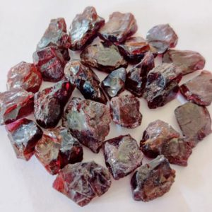 Shop Raw & Rough Garnet Stones! AAA Quality 25 PC LOT Garnet Raw Stone, Garnet Crystal, Natural Garnet Gemstone, Healing Garnet Raw,8×10, 10×12,  Mm Size | Natural genuine stones & crystals in various shapes & sizes. Buy raw cut, tumbled, or polished gemstones for making jewelry or crystal healing energy vibration raising reiki stones. #crystals #gemstones #crystalhealing #crystalsandgemstones #energyhealing #affiliate #ad