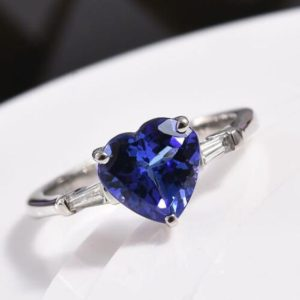 AAA Natural Tanzanite Promise Ring Heart Cut Tanzanite Ring Tanzanite Engagement Ring Tanzanite Wedding Ring Tanzanite Ring Gift for Her | Natural genuine Array rings, simple unique alternative gemstone engagement rings. #rings #jewelry #bridal #wedding #jewelryaccessories #engagementrings #weddingideas #affiliate #ad