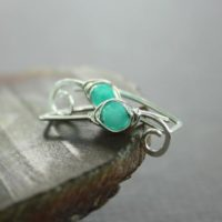 Mint Agate Sterling Silver Ear Climbers Earrings, Sterling Ear Cuffs, Ear Jacket Climbers, Ear Sweeps, Simple Ear Crawlers, Ec002 | Natural genuine Gemstone jewelry. Buy crystal jewelry, handmade handcrafted artisan jewelry for women.  Unique handmade gift ideas. #jewelry #beadedjewelry #beadedjewelry #gift #shopping #handmadejewelry #fashion #style #product #jewelry #affiliate #ad