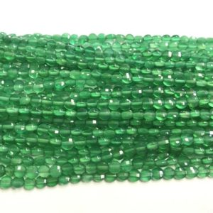 Genuine Faceted Green Agate 4mm -6mm Flat Round Cut Grade A Natural Coin Beads 15 inch Jewelry Supply Bracelet Necklace Material Wholesale | Natural genuine other-shape Gemstone beads for beading and jewelry making.  #jewelry #beads #beadedjewelry #diyjewelry #jewelrymaking #beadstore #beading #affiliate #ad