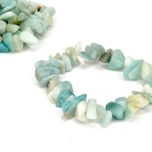 Shop Amazonite Bracelets! Amazonite Chips Bracelet | Natural genuine Amazonite bracelets. Buy crystal jewelry, handmade handcrafted artisan jewelry for women.  Unique handmade gift ideas. #jewelry #beadedbracelets #beadedjewelry #gift #shopping #handmadejewelry #fashion #style #product #bracelets #affiliate #ad