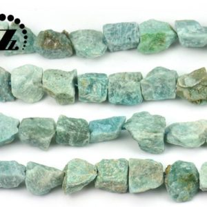 """Shop Amazonite Chip & Nugget Beads! Russian Amazonite Cut Nugget bead,raw bead,Chunky Nugget,Genuine,Natural,diy,7-17×14-19mm,15"""" full strand   Natural genuine chip Amazonite beads for beading and jewelry making.  #jewelry #beads #beadedjewelry #diyjewelry #jewelrymaking #beadstore #beading #affiliate #ad"""