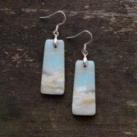 Natural Amazonite Stone Dangle Earrings-healing Teardrop Earrings-inner Peace Meditation Grounding Balance Mental Health Gemstone Earring | Natural genuine Gemstone jewelry. Buy crystal jewelry, handmade handcrafted artisan jewelry for women.  Unique handmade gift ideas. #jewelry #beadedjewelry #beadedjewelry #gift #shopping #handmadejewelry #fashion #style #product #jewelry #affiliate #ad