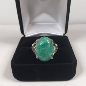 Shop Amazonite Rings! Gorgeous 10ct Amazonite Ring 6 7 8 9 10 Sterling Silver Ring Ring Trending Jewelry Gift Mom Wife Daughter Sister 18×13 Oval Amazonite Ring | Natural genuine Amazonite rings, simple unique handcrafted gemstone rings. #rings #jewelry #shopping #gift #handmade #fashion #style #affiliate #ad