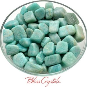 Shop Tumbled Amazonite Crystals & Pocket Stones! 2 Amazonite Tumbled Stone Pack For Crystal Grid Work #am48 | Natural genuine stones & crystals in various shapes & sizes. Buy raw cut, tumbled, or polished gemstones for making jewelry or crystal healing energy vibration raising reiki stones. #crystals #gemstones #crystalhealing #crystalsandgemstones #energyhealing #affiliate #ad