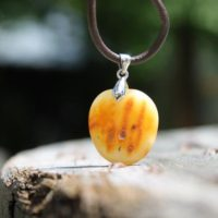 Amber Pendant Charm, Amber Necklace, Baltic Amber, Gift For Her, Gift For Him, Amber Jewelry Amulet Gift Natural Jewelry Nordic Amber Stone | Natural genuine Gemstone jewelry. Buy crystal jewelry, handmade handcrafted artisan jewelry for women.  Unique handmade gift ideas. #jewelry #beadedjewelry #beadedjewelry #gift #shopping #handmadejewelry #fashion #style #product #jewelry #affiliate #ad