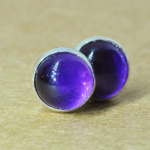 Shop Amethyst Earrings! Amethyst earrings, Sterling Silver jewellery studs. 6mm February birthstone | Natural genuine Amethyst earrings. Buy crystal jewelry, handmade handcrafted artisan jewelry for women.  Unique handmade gift ideas. #jewelry #beadedearrings #beadedjewelry #gift #shopping #handmadejewelry #fashion #style #product #earrings #affiliate #ad