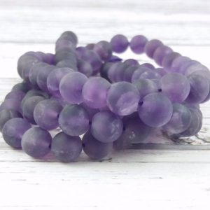 Shop Amethyst Bead Shapes! Amethyst Gemstone Beads, Reiki Infused Matte Frosted 8mm Amethyst Beads | Natural genuine other-shape Amethyst beads for beading and jewelry making.  #jewelry #beads #beadedjewelry #diyjewelry #jewelrymaking #beadstore #beading #affiliate #ad