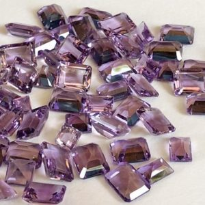 7x9mm Brazilian Amethyst Emerald Cut Stone Lot, 5 Pcs Natural Pointed Back Emerald Cut Faceted Amethyst, Purple Amethyst For Jewelry -ANG69 | Natural genuine stones & crystals in various shapes & sizes. Buy raw cut, tumbled, or polished gemstones for making jewelry or crystal healing energy vibration raising reiki stones. #crystals #gemstones #crystalhealing #crystalsandgemstones #energyhealing #affiliate #ad