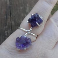 Natural Rough Amethyst Sterling Silver Ring Size 7 – Natural Rough Stone Ring – Rough Amethyst Ring Amethyst Ring Size 7 – Ring Size 7 | Natural genuine Gemstone jewelry. Buy crystal jewelry, handmade handcrafted artisan jewelry for women.  Unique handmade gift ideas. #jewelry #beadedjewelry #beadedjewelry #gift #shopping #handmadejewelry #fashion #style #product #jewelry #affiliate #ad