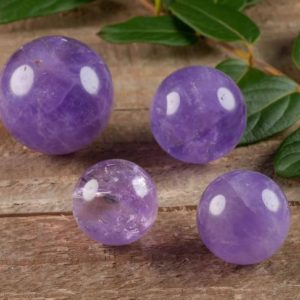 AMETHYST Sphere – Marble-M – Crystal Ball, Housewarming Gift, Home Decor E0576 | Natural genuine stones & crystals in various shapes & sizes. Buy raw cut, tumbled, or polished gemstones for making jewelry or crystal healing energy vibration raising reiki stones. #crystals #gemstones #crystalhealing #crystalsandgemstones #energyhealing #affiliate #ad