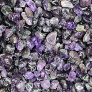 Shop Tumbled Amethyst Crystals & Pocket Stones! Amethyst Tumbled Crystal Chips, Choose Amount | Natural genuine stones & crystals in various shapes & sizes. Buy raw cut, tumbled, or polished gemstones for making jewelry or crystal healing energy vibration raising reiki stones. #crystals #gemstones #crystalhealing #crystalsandgemstones #energyhealing #affiliate #ad