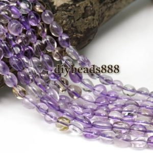 Shop Ametrine Chip & Nugget Beads! Crystal Quartz,15 inch full strand Ametrine chip bead,nugget beads,centre drilled beads,Crystal beads 8-10mm   Natural genuine chip Ametrine beads for beading and jewelry making.  #jewelry #beads #beadedjewelry #diyjewelry #jewelrymaking #beadstore #beading #affiliate #ad