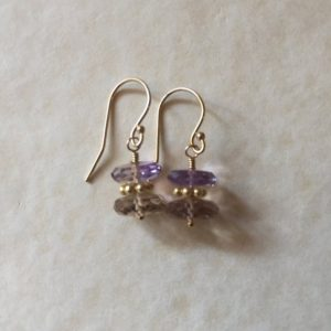 Shop Ametrine Earrings! Ametrine Earrings/ Ametrine gemstone earrings/ German cut Ametrine earrings | Natural genuine Ametrine earrings. Buy crystal jewelry, handmade handcrafted artisan jewelry for women.  Unique handmade gift ideas. #jewelry #beadedearrings #beadedjewelry #gift #shopping #handmadejewelry #fashion #style #product #earrings #affiliate #ad