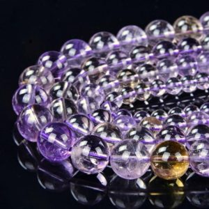 Shop Ametrine Round Beads! Natural Ametrine Gemstone Grade AAA Round 6mm 8mm 10mm 12mm Loose Beads BULK LOT 1,2,6,12 and 50 (A283) | Natural genuine round Ametrine beads for beading and jewelry making.  #jewelry #beads #beadedjewelry #diyjewelry #jewelrymaking #beadstore #beading #affiliate #ad