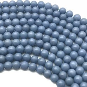 Shop Angelite Beads! 10mm Angelite Beads, Round Gemstone Beads, Wholesale Beads | Natural genuine round Angelite beads for beading and jewelry making.  #jewelry #beads #beadedjewelry #diyjewelry #jewelrymaking #beadstore #beading #affiliate #ad