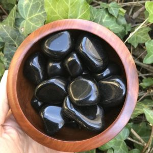 Shop Apache Tears Stones & Crystals! Apache Tear Obsidian Tumbled // for Trauma, Grief, Strength in Loss, Protection, Overcoming Sorrow, Release, Letting Go | Natural genuine stones & crystals in various shapes & sizes. Buy raw cut, tumbled, or polished gemstones for making jewelry or crystal healing energy vibration raising reiki stones. #crystals #gemstones #crystalhealing #crystalsandgemstones #energyhealing #affiliate #ad